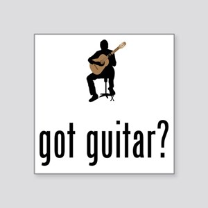 "Classical-Guitar-02-A Square Sticker 3"" x 3"""